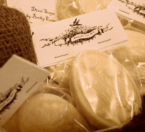 Goat Milk Soap made into special shapes and specially packaged for wedding favors.